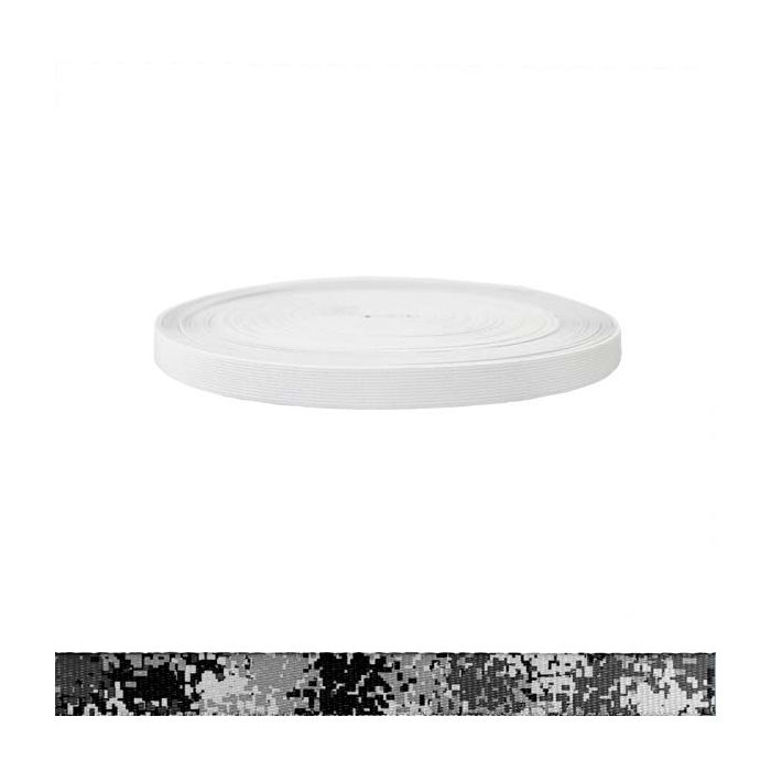3/4 Inch Sublimated Elastic Camouflage Digital Winter