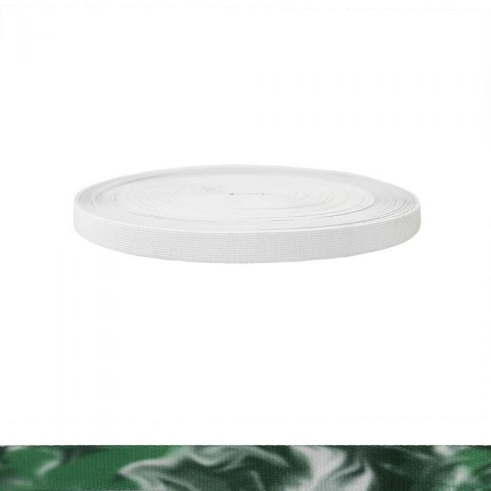 3/4 Inch Sublimated Elastic Green Smoke