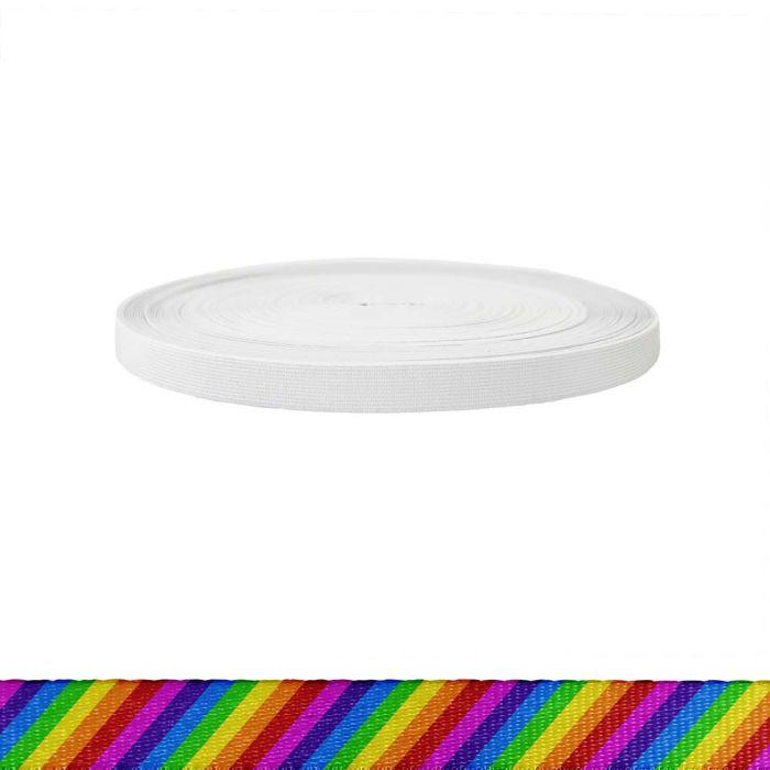 3/4 Inch Sublimated Elastic Rainbow Stripe