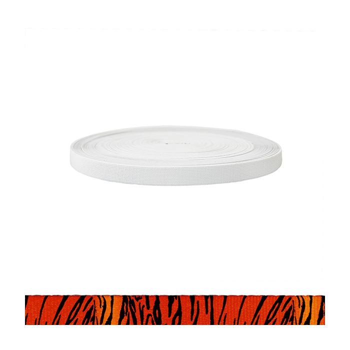 3/4 Inch Sublimated Elastic Tiger
