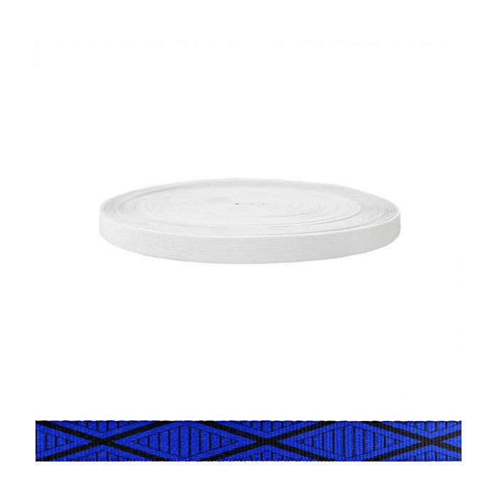 3/4 Inch Sublimated Elastic Tiki Blue