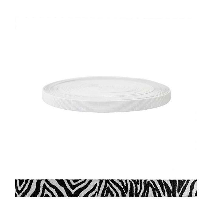 3/4 Inch Sublimated Elastic Zebra