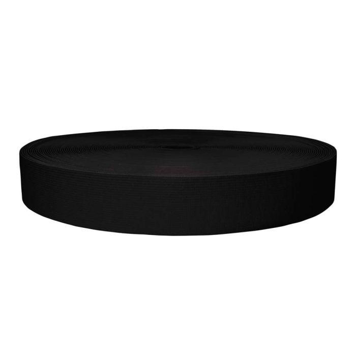 1-1/2 Inch Sublimated Elastic Black