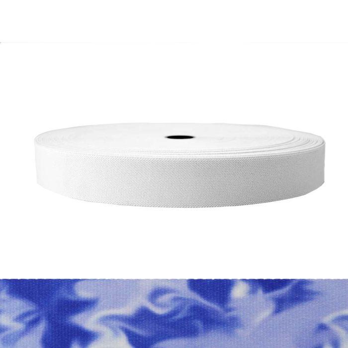 1-1/2 Inch Sublimated Elastic Blue Smoke
