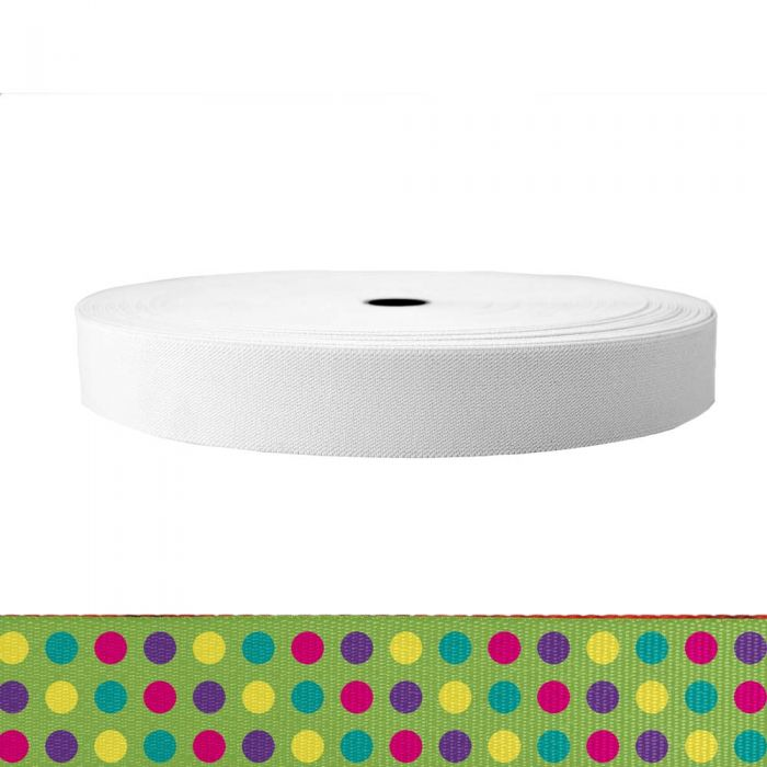 1-1/2 Inch Sublimated Elastic Candy Dots