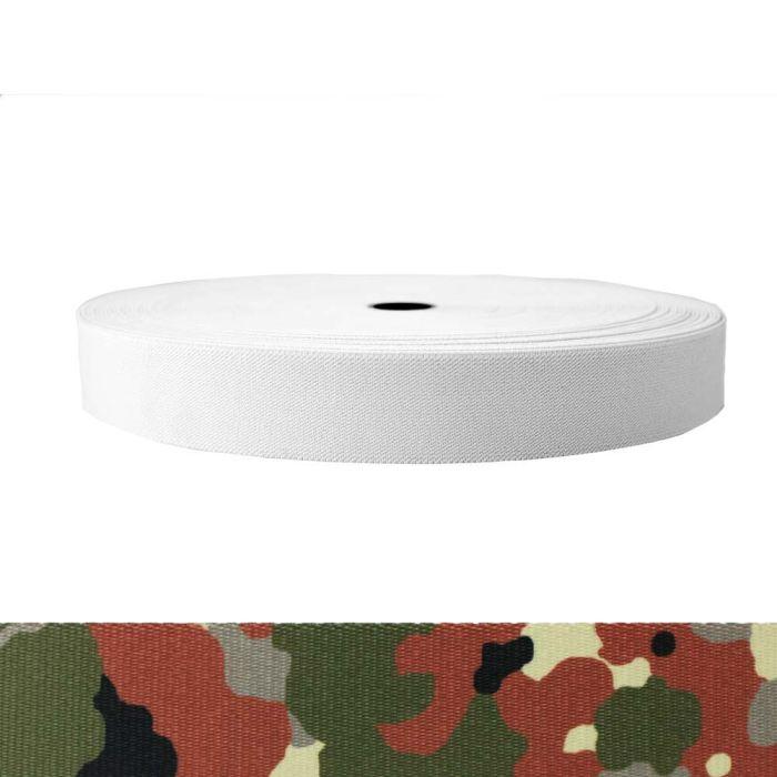 1-1/2 Inch Sublimated Elastic Camouflage Flecktarn