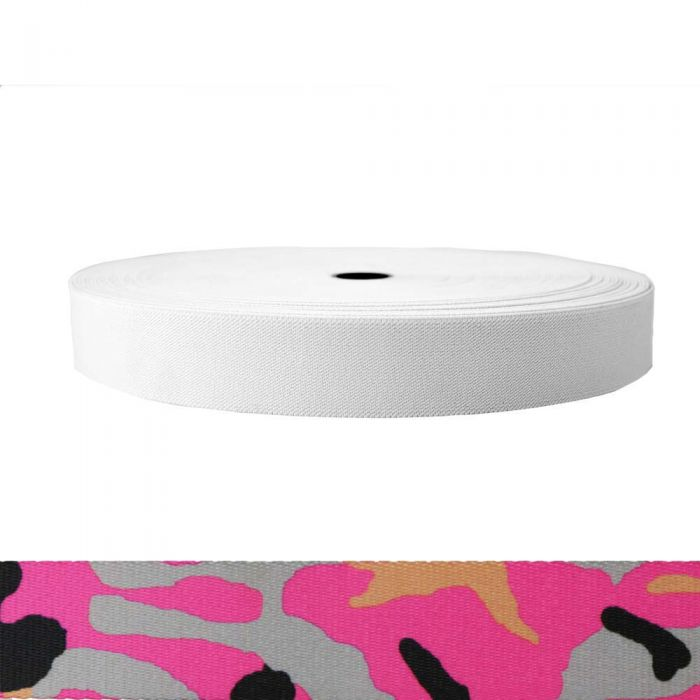 1-1/2 Inch Sublimated Elastic Camouflage Pink