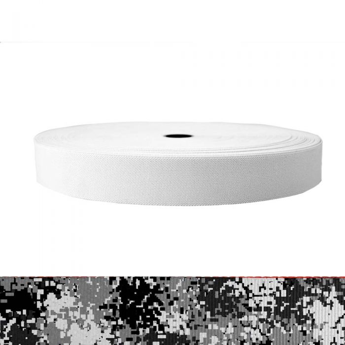 1-1/2 Inch Sublimated Elastic Camouflage Digital Winter