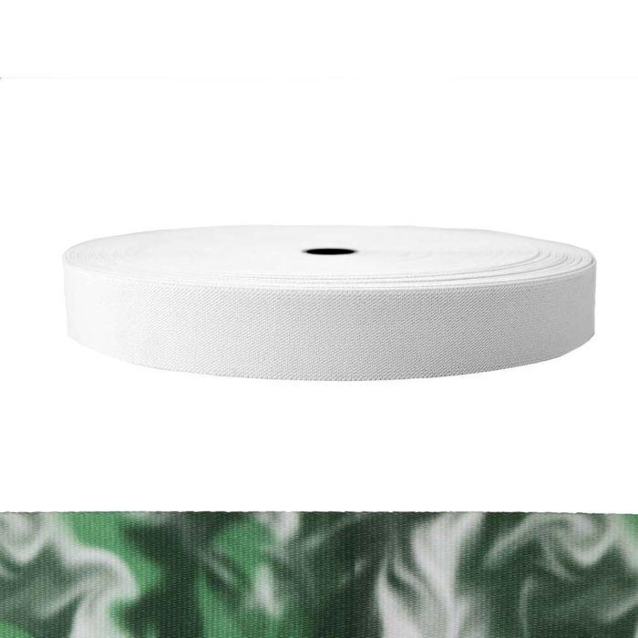 1-1/2 Inch Sublimated Elastic Green Smoke
