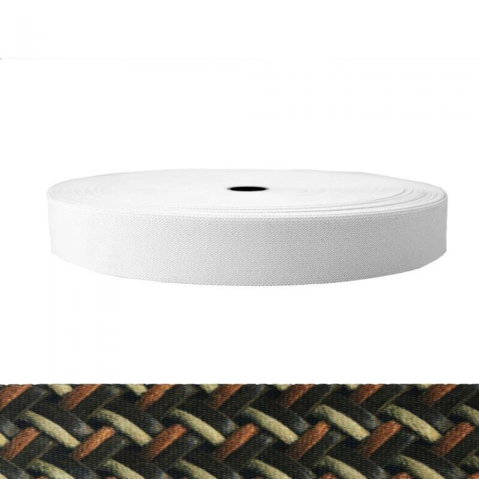 1-1/2 Inch Sublimated Elastic Leather Weave