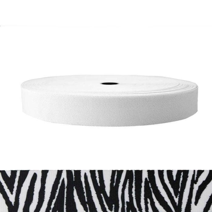 1-1/2 Inch Sublimated Elastic Zebra