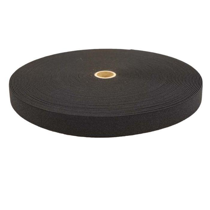 1 Inch Woven Elastic Black