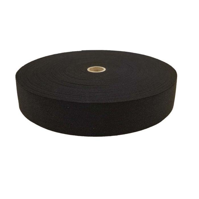 2 Inch Woven Elastic Black