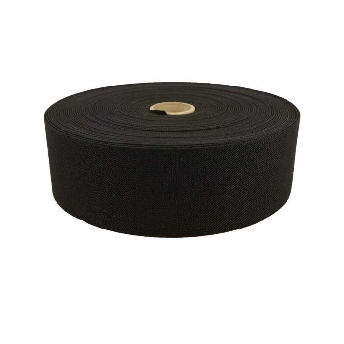 3 Inch Woven Elastic Black