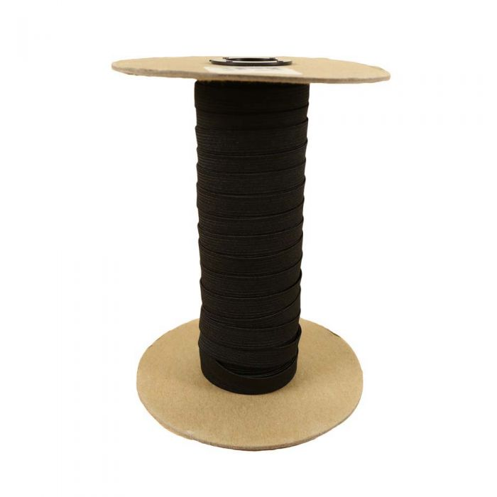1/2 Inch Woven Elastic Black
