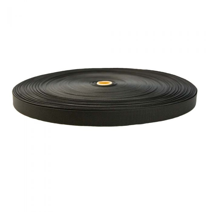 1 Inch Flat Nylon Tape Black