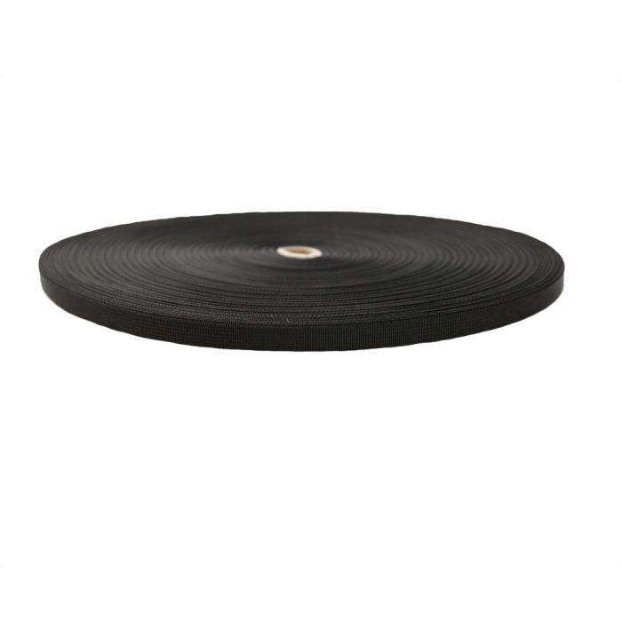 1/2 Inch Flat Nylon Tape Black