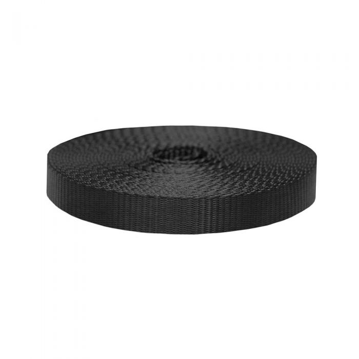 1 Inch Flat Nylon Black