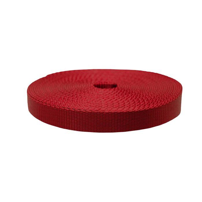 1 Inch Flat Nylon Dark Red