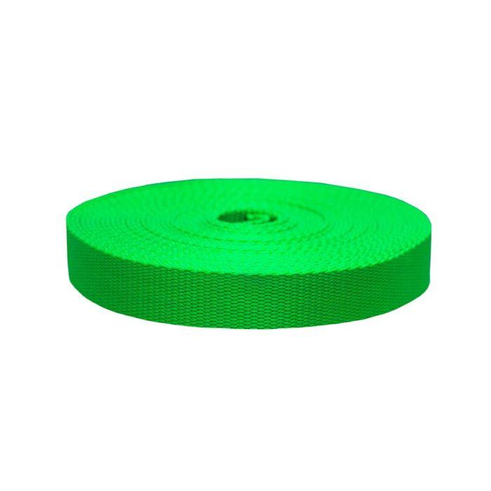 1 Inch Flat Nylon Hot Green