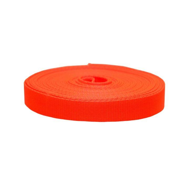 1 Inch Flat Nylon Hot Orange