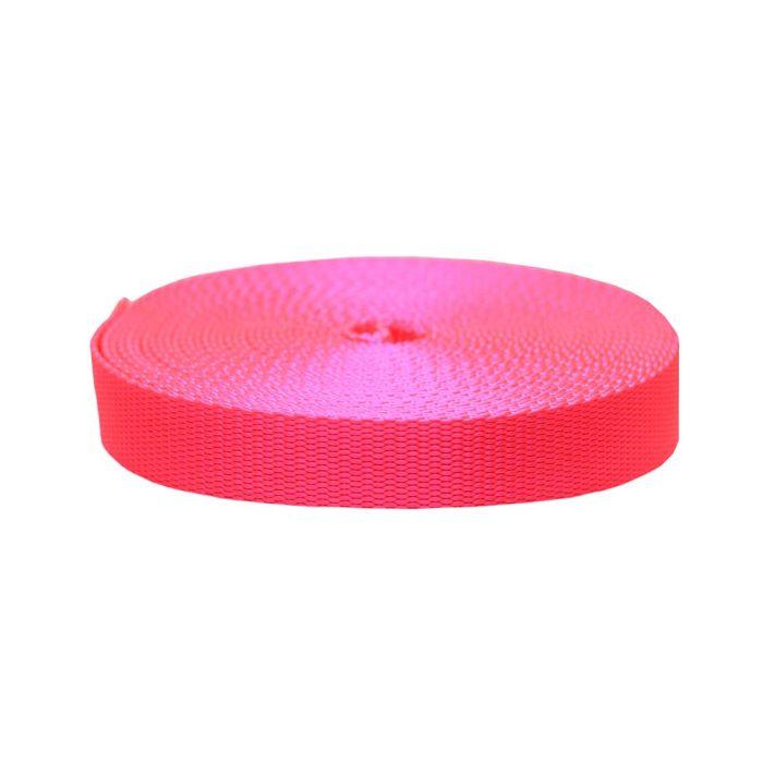 1 Inch Flat Nylon Hot Pink