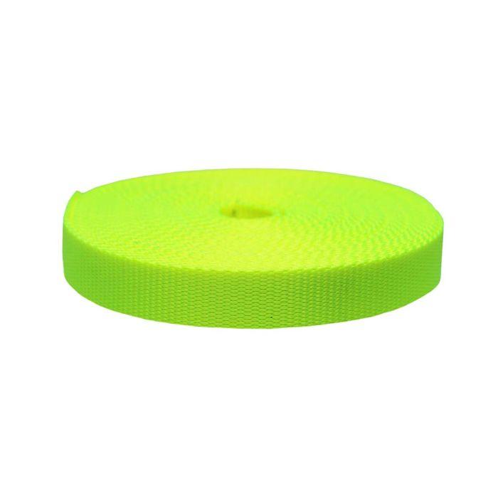 1 Inch Flat Nylon Hot Yellow