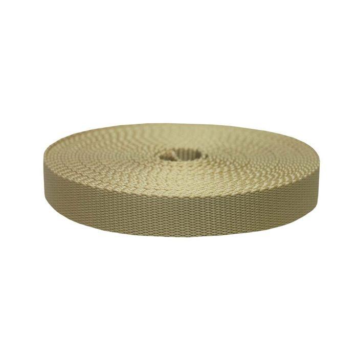 1 Inch Flat Nylon Khaki