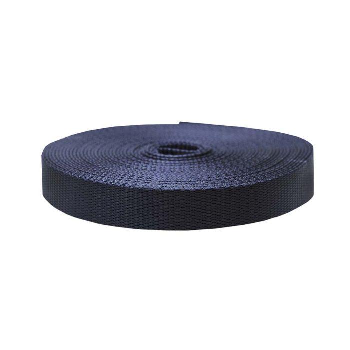 1 Inch Flat Nylon Navy Blue