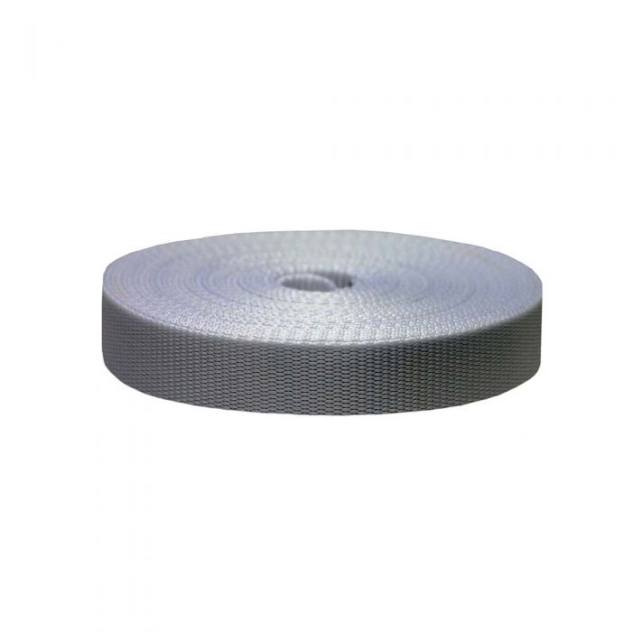 1 Inch Flat Nylon Silver Gray