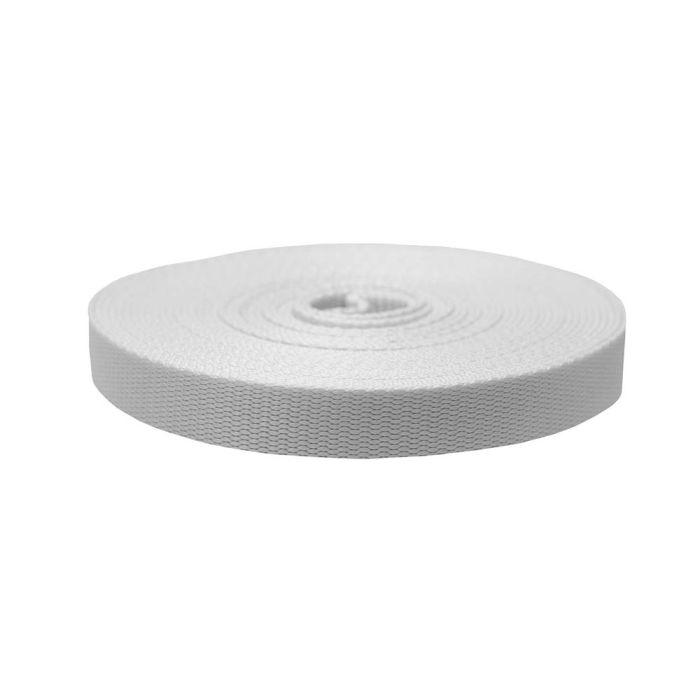 1 Inch Flat Nylon White