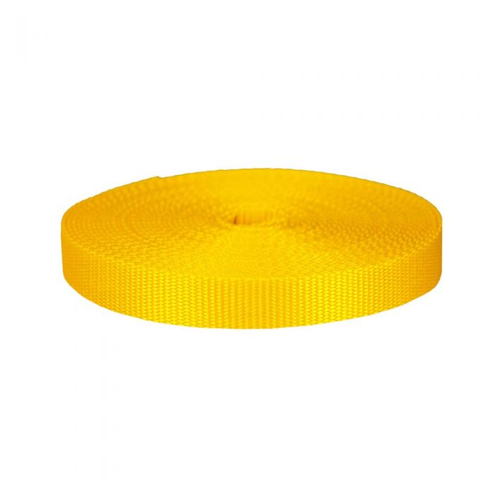1 Inch Flat Nylon Yellow