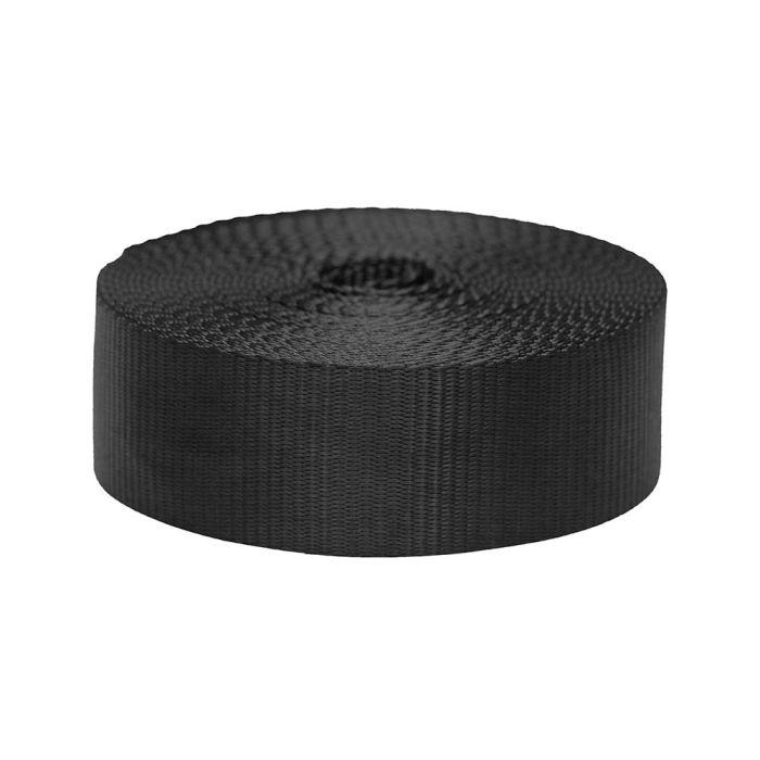 2 Inch Flat Nylon Black