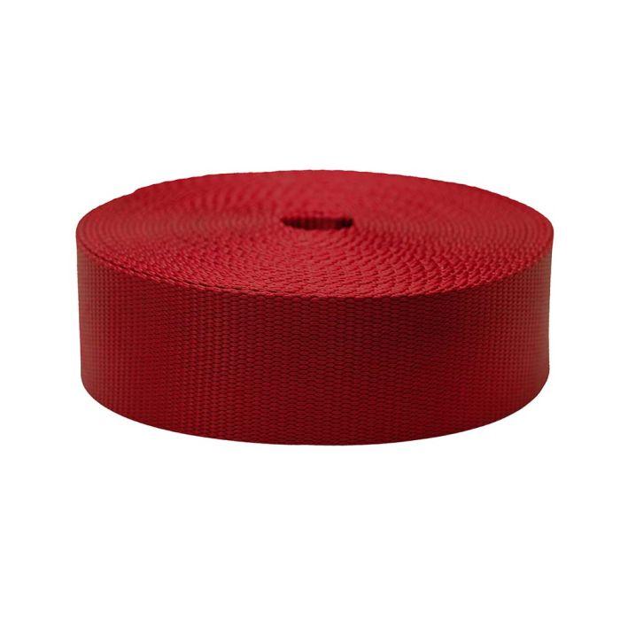 2 Inch Flat Nylon Dark Red