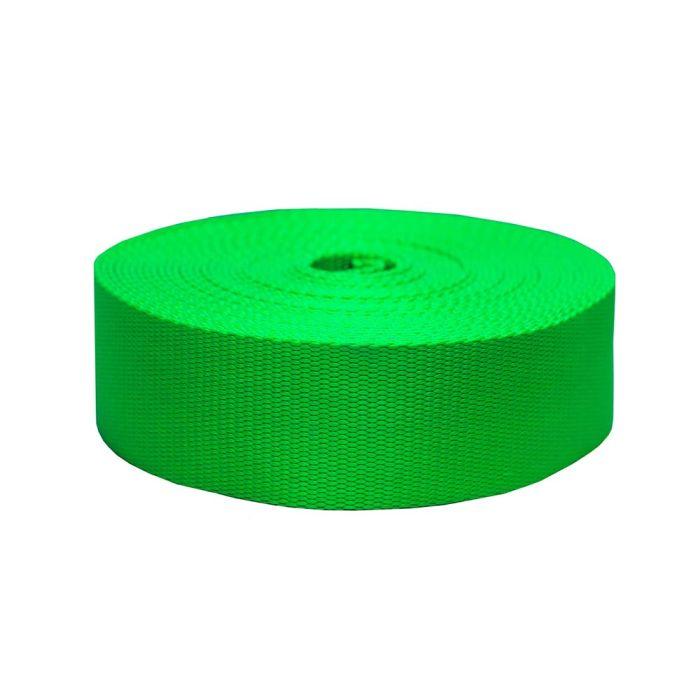 2 Inch Flat Nylon Hot Green
