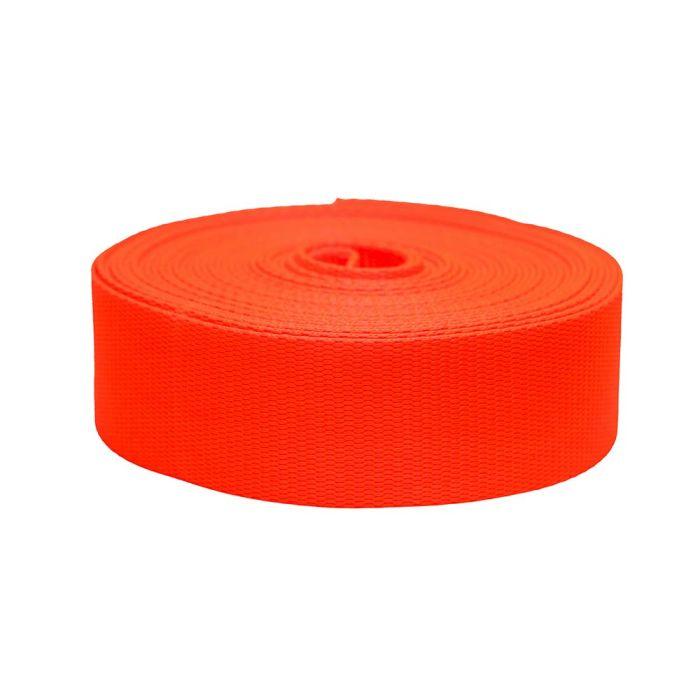 2 Inch Flat Nylon Hot Orange