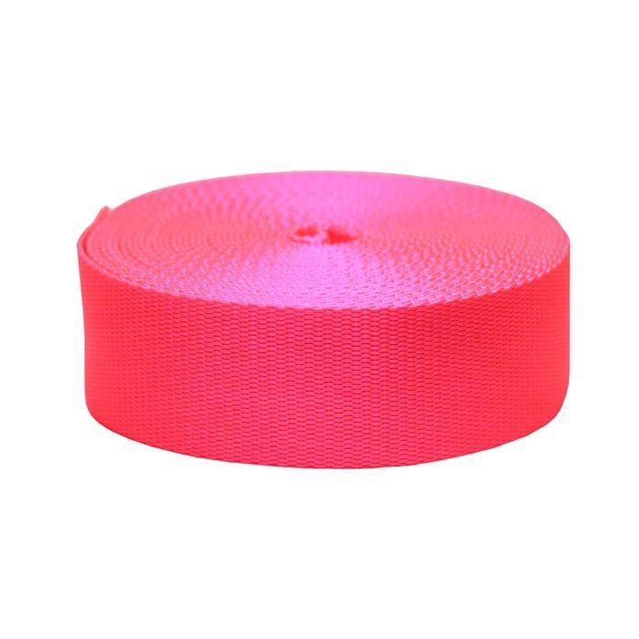 2 Inch Flat Nylon Hot Pink
