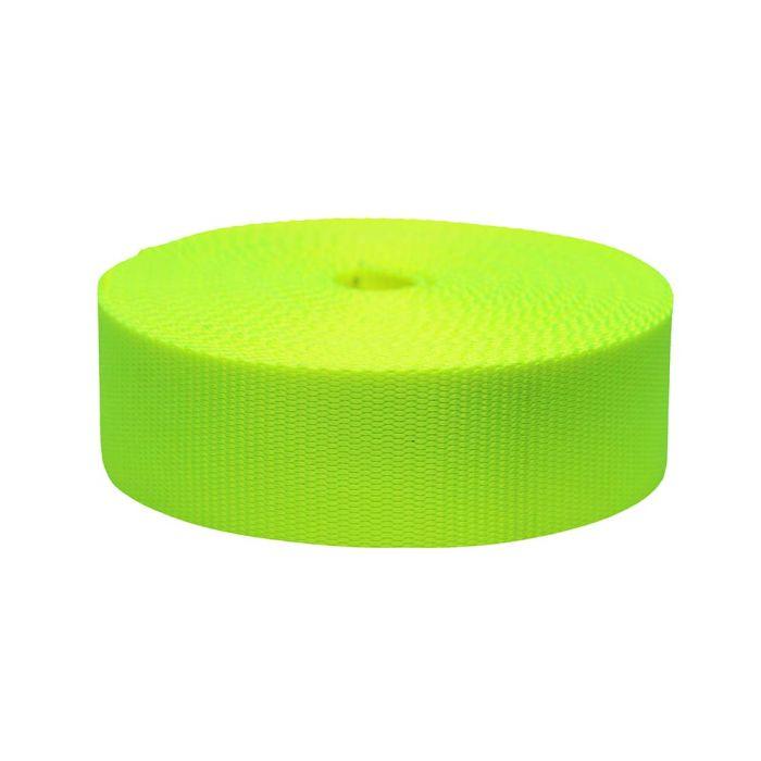 2 Inch Flat Nylon Hot Yellow