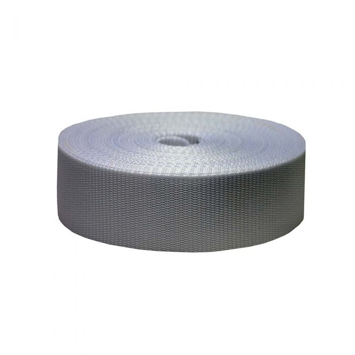 2 Inch Flat Nylon Silver Gray