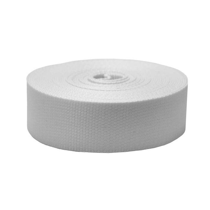 2 Inch Flat Nylon White