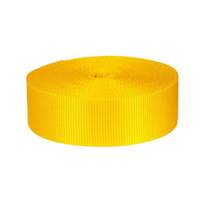 2 Inch Flat Nylon Yellow