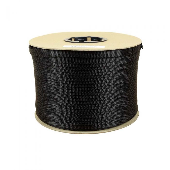1/2 Inch Flat Nylon Black