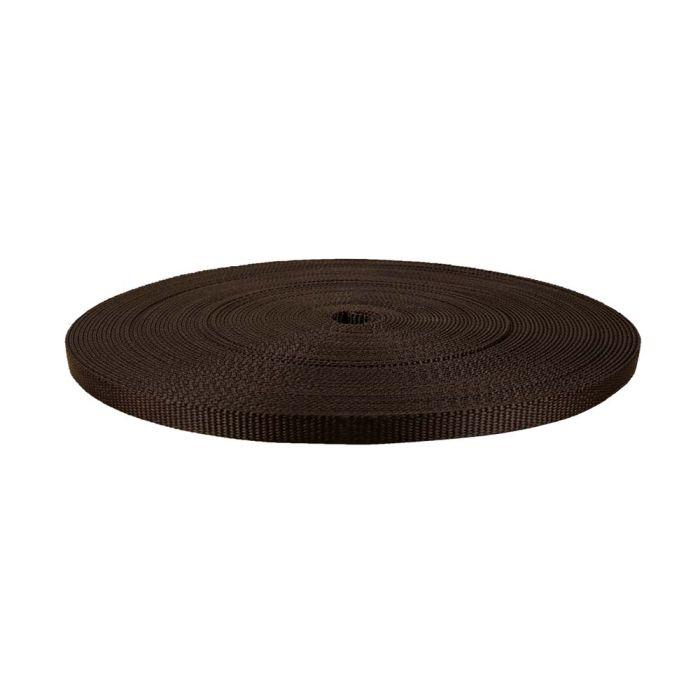 1/2 Inch Flat Nylon Brown