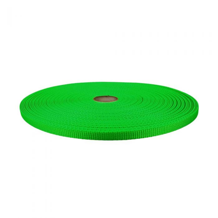 1/2 Inch Flat Nylon Hot Green