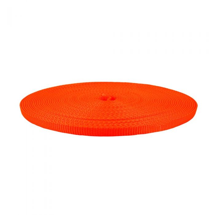 1/2 Inch Flat Nylon Hot Orange