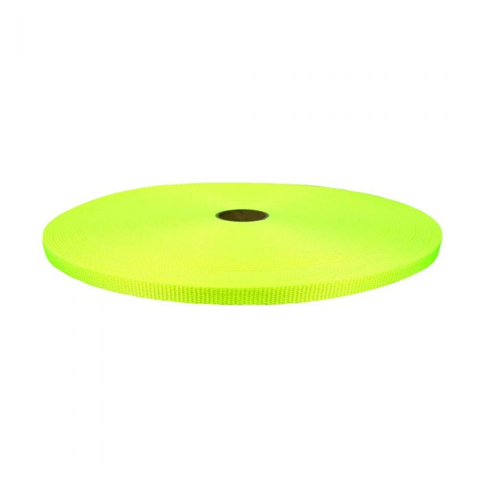 1/2 Inch Flat Nylon Hot Yellow