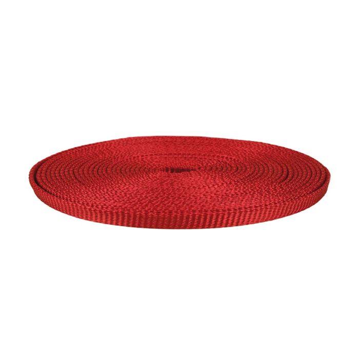 1/2 Inch Flat Nylon Light Red