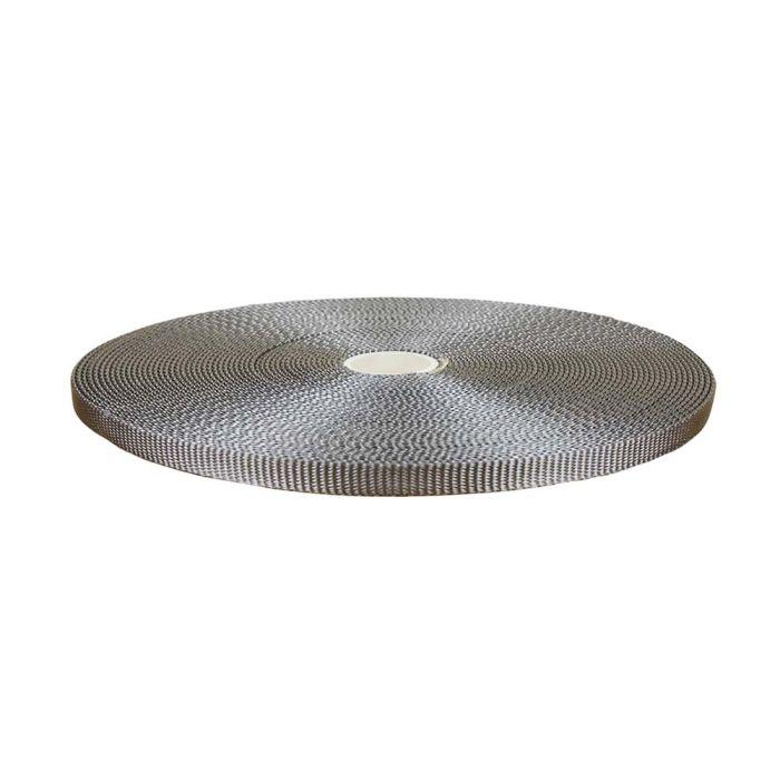 1/2 Inch Flat Nylon Silver Gray