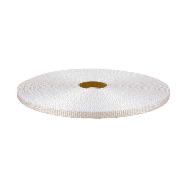 1/2 Inch Flat Nylon White