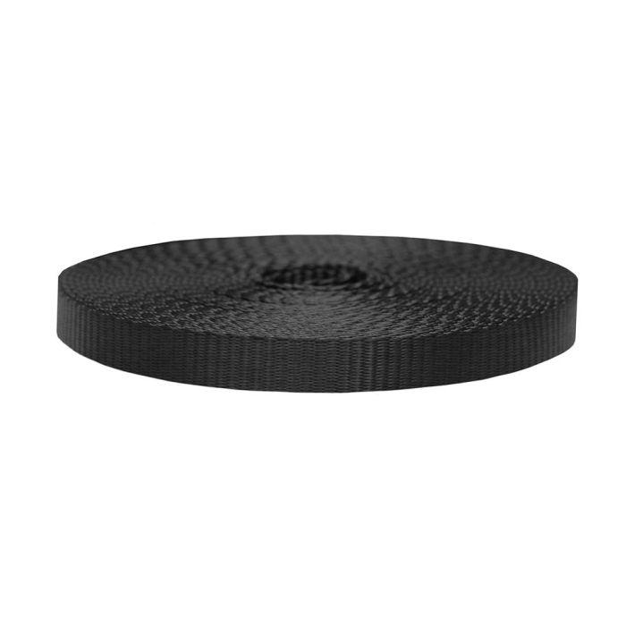 3/4 Inch Flat Nylon Black
